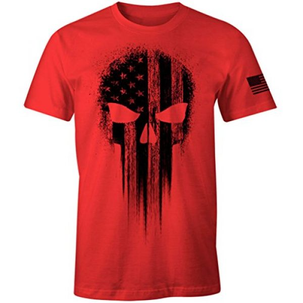 Fantastic Tees Graphic Tshirt 1 USA Military American Flag Black Skull Patriotic Men's T Shirt