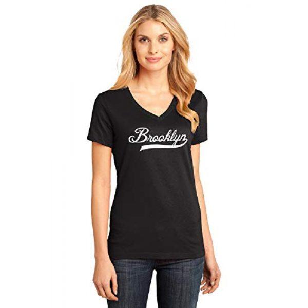 Comical Shirt Graphic Tshirt 2 Ladies Brooklyn Home T Shirt Love New York Pride City V-Neck Tee