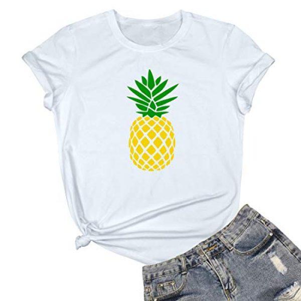BLACKMYTH Graphic Tshirt 1 Women Cute Graphic T Shirts Funny Tops Pineapple Tees