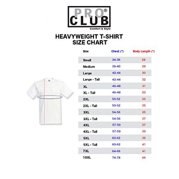 Pro Club Graphic Tshirt 7 Men's 6-Pack Heavyweight Cotton Short Sleeve Crew Neck T-Shirt