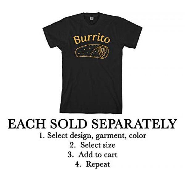 Threadrock Graphic Tshirt 2 Burrito Taco Taquito | Dad Mom Baby Matching Family Shirts Set