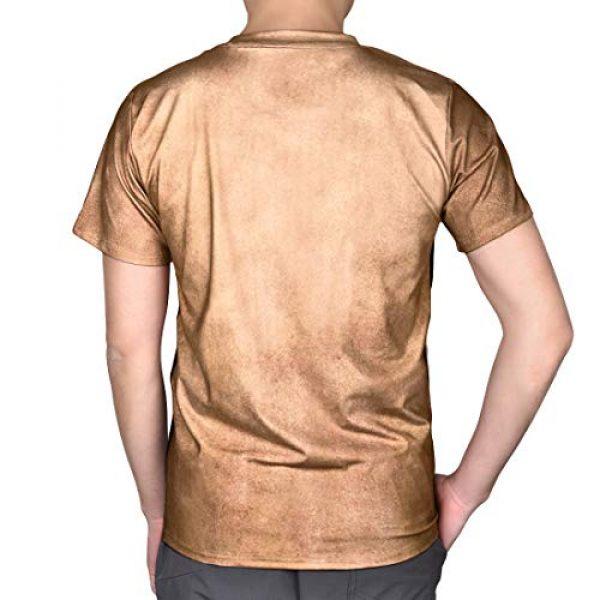 JIAYIQI Graphic Tshirt 6 3D Art Printed Short Sleeves Muscle T-Shirt Casual Summer Tees for Men