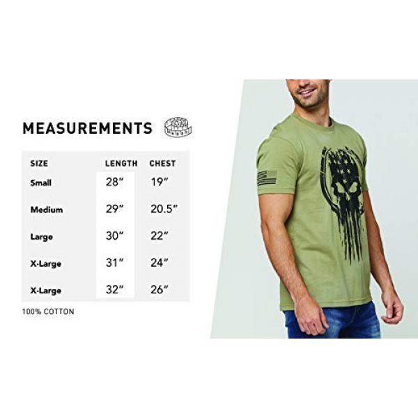 THREE VIKINGS Graphic Tshirt 6 Premium Men's American Freedom T-Shirts - Patriotic Tees - USA Tactical Flag