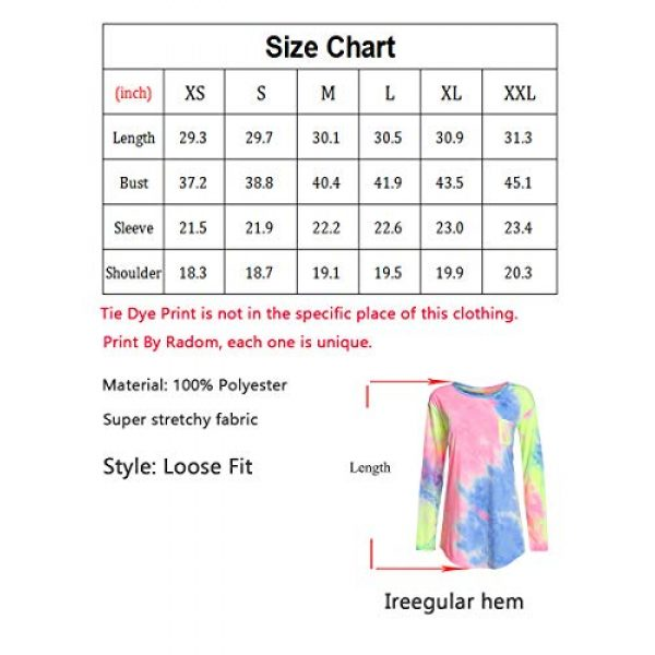 ROMWE Graphic Tshirt 3 Women's Loose Long Sleeve Comfy Swing Tunic Top Blouse T-Shirt Tee Tshirt