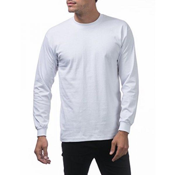 Pro Club Graphic Tshirt 5 Men's 3-Pack Heavyweight Cotton Long Sleeve Crew Neck T-Shirt