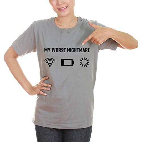 Greenmill Apparel Graphic Tshirt 3 Gamer T Shirt Funny Tshirt for Men Women Teens My Worst Nightmare Gaming Christmas