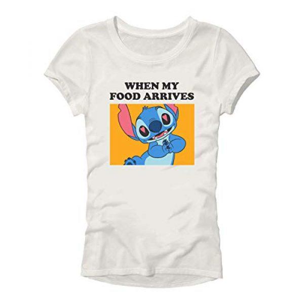 Disney Graphic Tshirt 1 Lilo and Stitch When My Food Arrives Meme Womens Junior T-Shirt