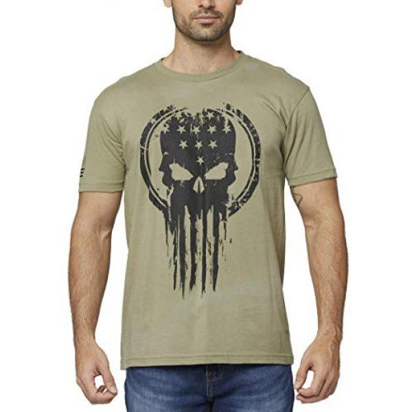 THREE VIKINGS Graphic Tshirt 1 Premium Men's American Freedom T-Shirts - Patriotic Tees - USA Tactical Flag