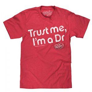 Tee Luv Graphic Tshirt 1 Dr Pepper Shirt Trust Me I'm A Dr - Retro Dr Pepper Graphic Tee Shirt