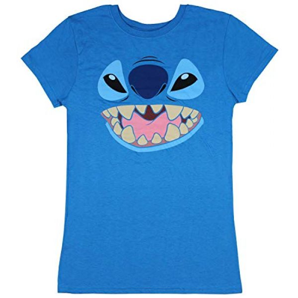 Disney Graphic Tshirt 1 Lilo And Stitch Juniors Stitch Face Character Graphic Licensed T-Shirt