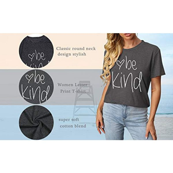 DUTUT Graphic Tshirt 4 Womens Be Kind T Shirt Summer Letter Print Short Sleeve Loose Tops Inspirational Graphic Tees
