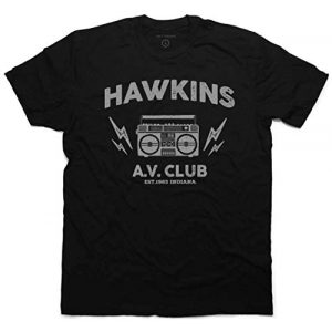 Daft Threads Graphic Tshirt 1 ~ Hawkins A.V. Club T-Shirt Stranger & Things Upside Down Sticker