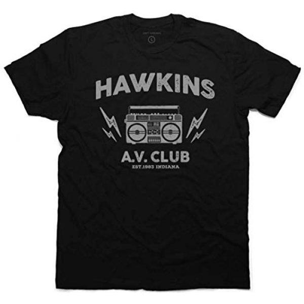 Daft Threads Graphic Tshirt 1 ~ Hawkins A.V. Club T-Shirt Stranger & Things Upside Down Sticker