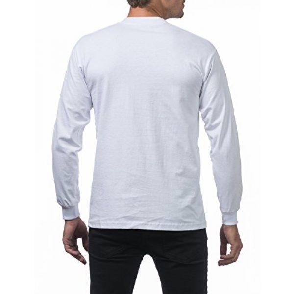 Pro Club Graphic Tshirt 3 Men's 3-Pack Heavyweight Cotton Long Sleeve Crew Neck T-Shirt