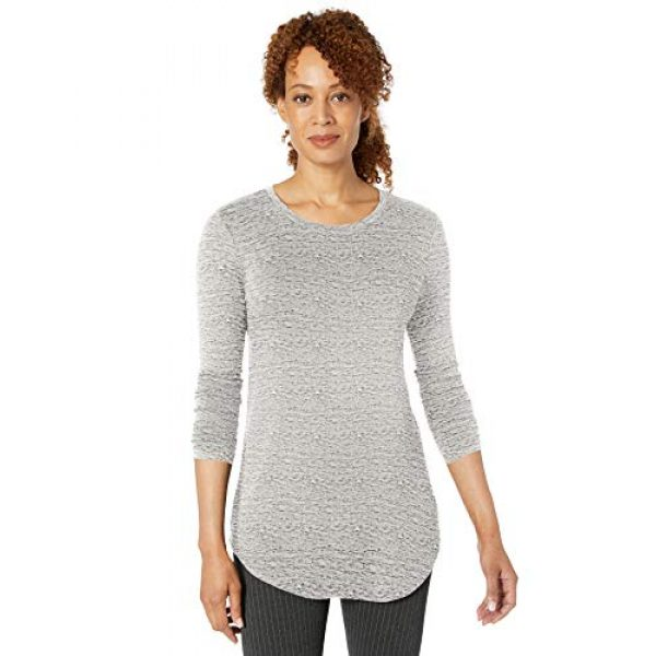 Daily Ritual Graphic Tshirt 7 Amazon Brand - Daily Ritual Women's Supersoft Terry Long-Sleeve Shirt with Shirttail Hem
