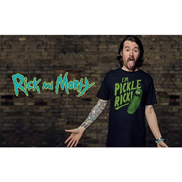 Ripple Junction Graphic Tshirt 3 Rick and Morty I'm Pickle Rick Adult T-Shirt