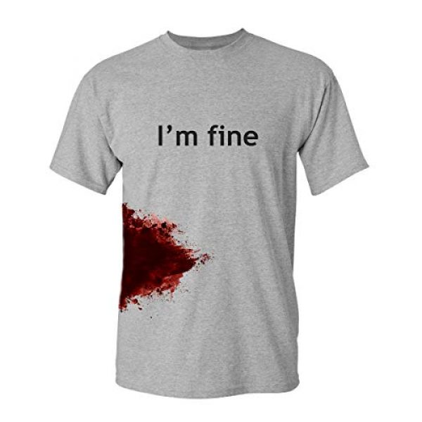Feelin Good Tees Graphic Tshirt 1 I'm Fine Graphic Novelty Sarcastic Movie Halloween Humor Zombie Funny T Shirt