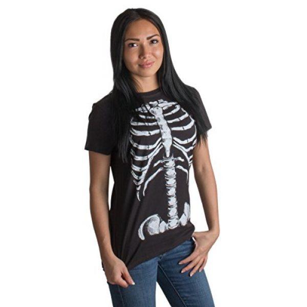 Ann Arbor T-shirt Co. Graphic Tshirt 1 Skeleton Rib Cage | Jumbo Print Novelty Halloween Costume Ladies' T-Shirt