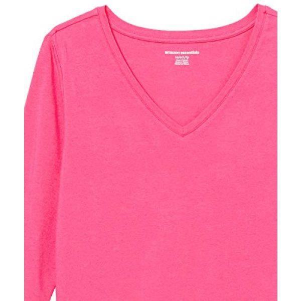 Amazon Essentials Graphic Tshirt 6 Women's Classic-Fit 3/4 Sleeve V-Neck T-Shirt