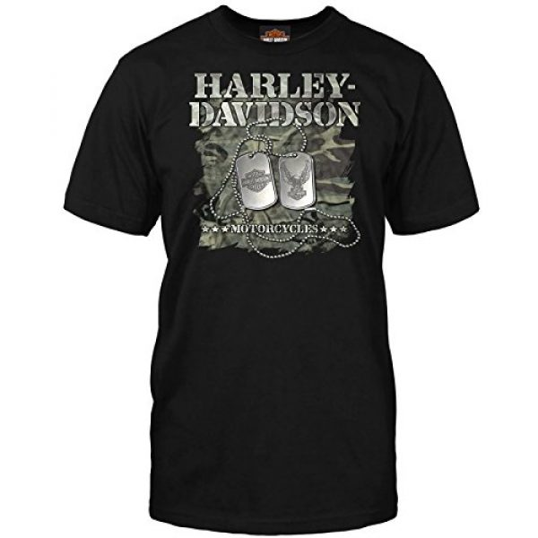 Harley-Davidson Graphic Tshirt 1 Military - Men's Short Sleeve Graphic T-Shirt - Overseas Tour | Dog Tags