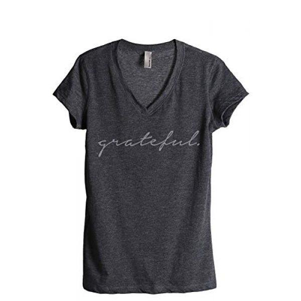 Thread Tank Graphic Tshirt 1 Grateful Women's Fashion Relaxed V-Neck T-Shirt Tee