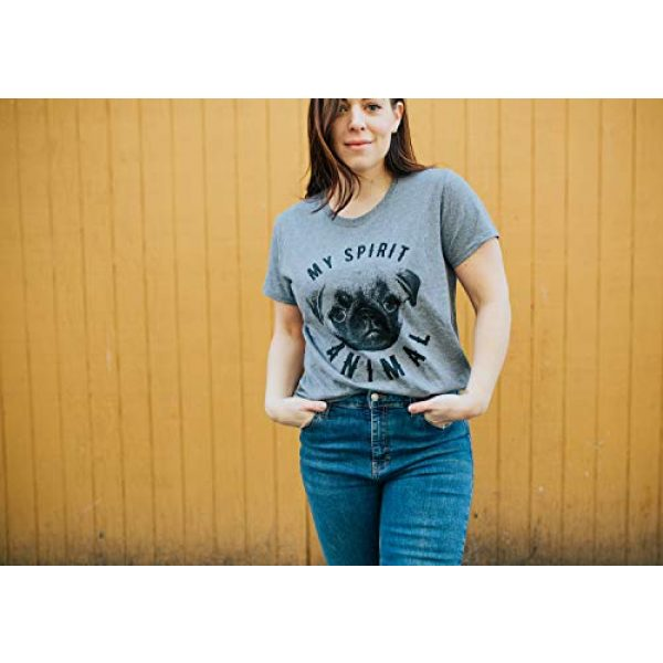 Crazy Dog T-Shirts Graphic Tshirt 3 Womens My Spirit Animal Pug T Shirt Funny Dog Mom Tee Cute for Her