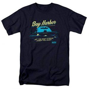 Popfunk Graphic Tshirt 1 Dexter Bay Harbour Moonlight Fishing T Shirt & Stickers