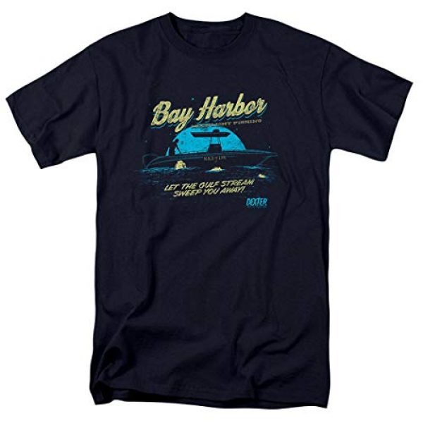 Popfunk Graphic Tshirt 1 Dexter Bay Harbour Moonlight Fishing T Shirt & Stickers