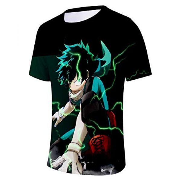 ZeroGoo Graphic Tshirt 4 Unisex 3D Print Anime Bnha Mha Deku Midoriya Bakugou Todoroki Shirt Cosplay Costume for Men Women Kid