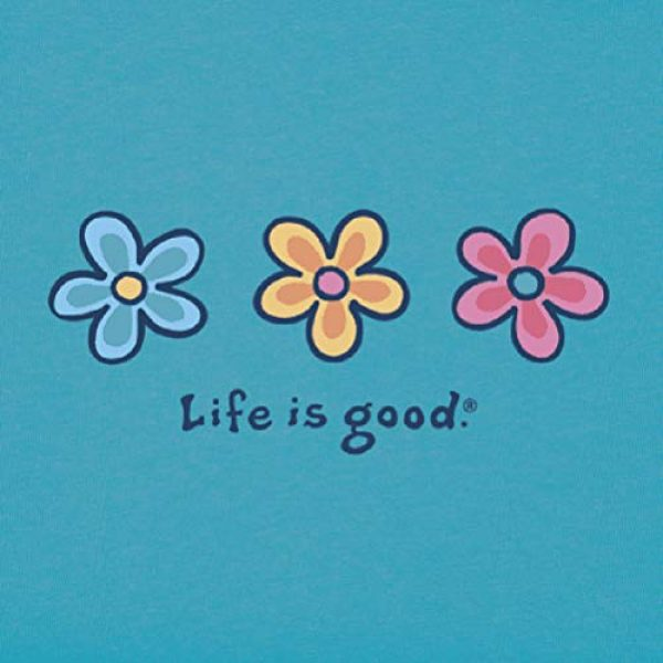 Life is Good Graphic Tshirt 2 Women's Vintage Crusher Flower Graphic T-Shirt