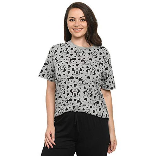 Disney Graphic Tshirt 5 Womens T-Shirt Mickey & Minnie Mouse All Over Print