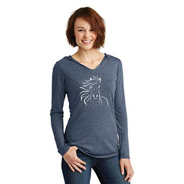 Comical Shirt Graphic Tshirt 2 Ladies Horse Outline Graphic Tee Hoodie Shirt