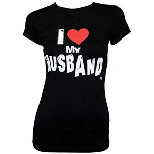 tees geek Graphic Tshirt 1 I Love My Husband Womens Slim Juniors Fitted T-Shirt