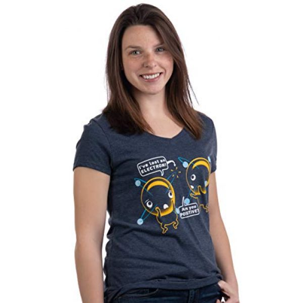 Ann Arbor T-shirt Co. Graphic Tshirt 3 I'm Positive I've Lost an Electron   Funny Chemistry Science Pun Women T-Shirt