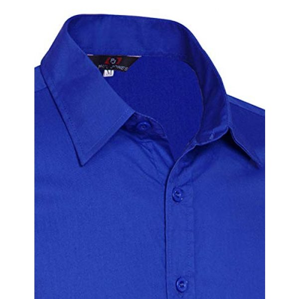PJ PAUL JONES Graphic Tshirt 7 Paul Jones Men's Long Sleeves Button Down Dress Shirts