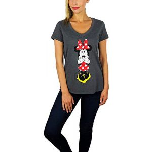 Disney Graphic Tshirt 1 Womens Minnie Mouse V-Neck Tee