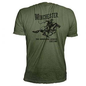 Winchester Graphic Tshirt 1 Official Men's Vintage Rider Graphic Printed Short Sleeve T-Shirt