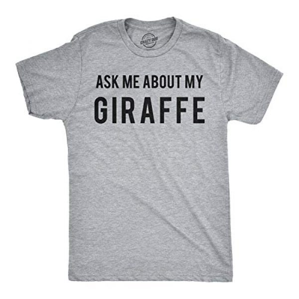 Crazy Dog T-Shirts Graphic Tshirt 2 Ask Me About My Giraffe T Shirt Funny Animal Flip Cool Graphic Hilarious Tee