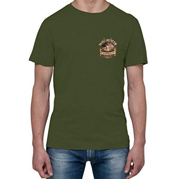 WINCHESTER SHIRTS Graphic Tshirt 4 Winchester Official Men's American Deer Skull Graphic Short Sleeve Cotton T-Shirt (Regular, Big and Tall Size)