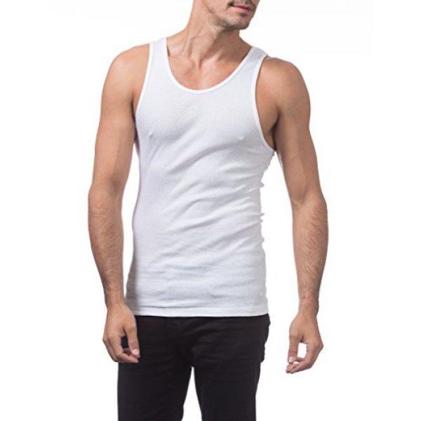 Pro Club Graphic Tshirt 5 Men's Premium Ringspun Cotton Ribbed A-Shirt