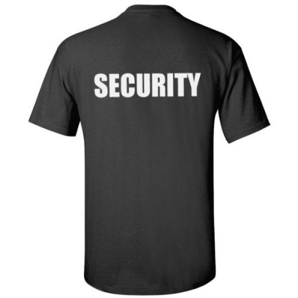 Ann Arbor T-shirt Co. Graphic Tshirt 4 Security | Event Safety Guard Two Side Print Black w/Tall Sizes Unisex T-Shirt