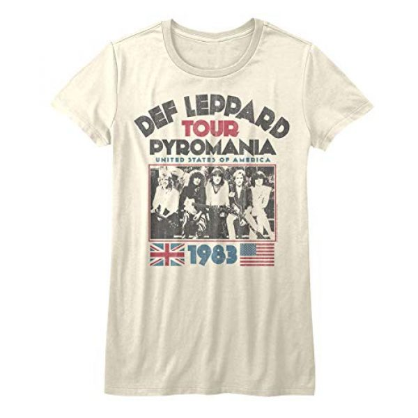 American Classics Graphic Tshirt 2 Def Leppard 1977 English Rock Band 1983 USA Pyromania Tour Natural JRS T-Shirt