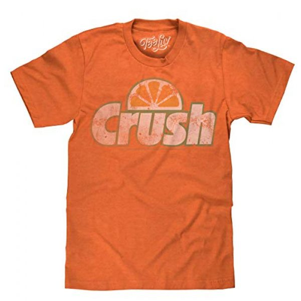 Tee Luv Graphic Tshirt 1 Orange Crush T-Shirt - Vintage Crush Soda Logo Graphic Tee Shirt