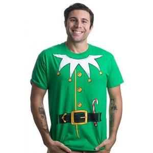 Ann Arbor T-shirt Co. Graphic Tshirt 1 Santa's Elf Costume | Jumbo Print Novelty Christmas Holiday Humor Unisex T-Shirt