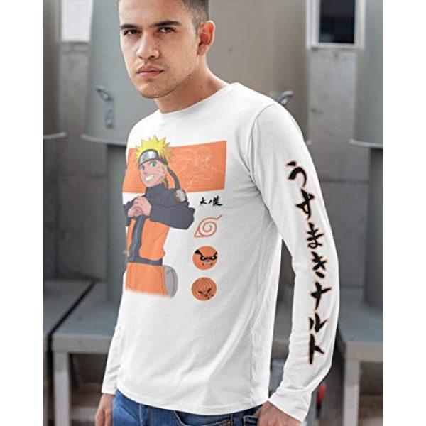 Ripple Junction Graphic Tshirt 5 Naruto Shippuden Adult Unisex Naruto Block Symbols Light Weight 100% Cotton Long Sleeve Crew T-Shirt