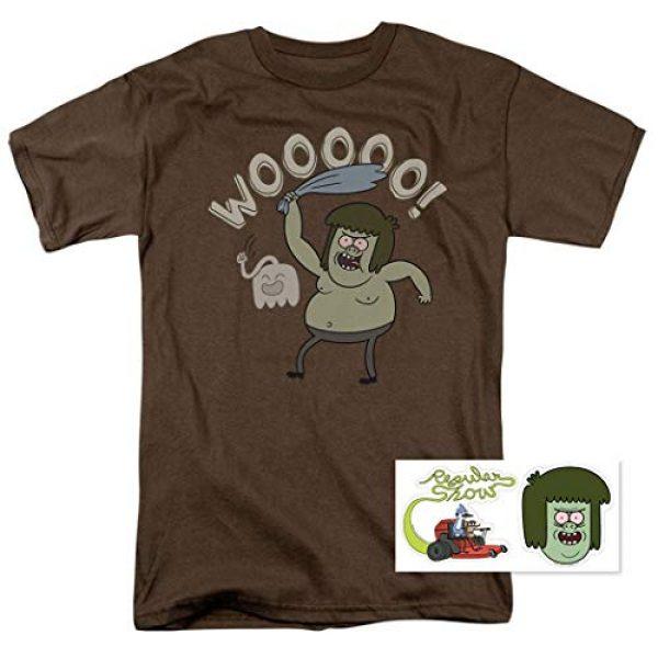 Popfunk Graphic Tshirt 2 Regular Show Muscle Man Cartoon Network T Shirt & Stickers