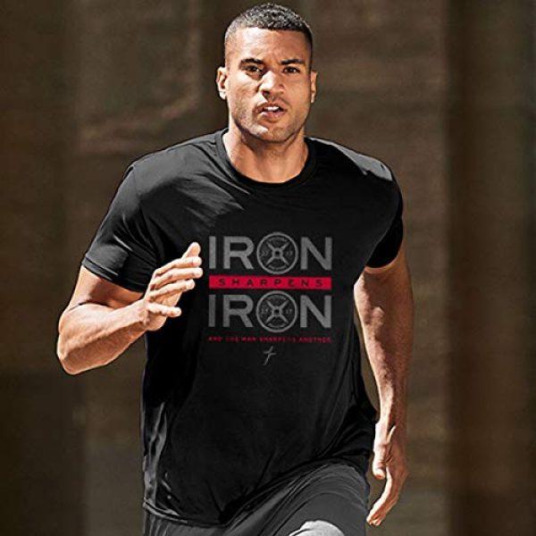 Kerusso Graphic Tshirt 3 Men's Iron Sharpens Iron T-Shirt - Black -