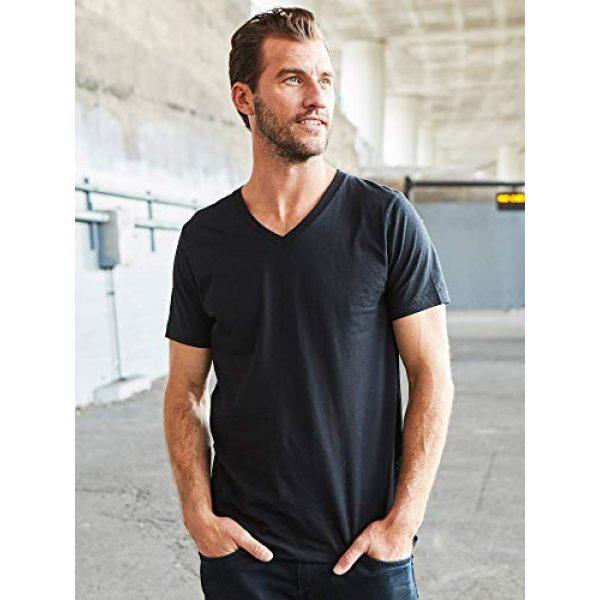 Bolter Graphic Tshirt 6 4 Pack Men's Everyday Cotton Blend V Neck Short Sleeve T Shirt