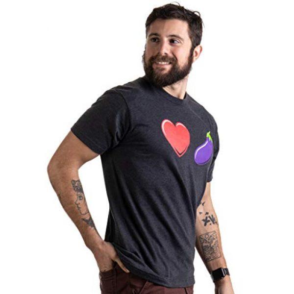 Ann Arbor T-shirt Co. Graphic Tshirt 3 Love Eggplant | Funny Gay Pride Humor LGBTQ Silly Joke for Men Women T-Shirt