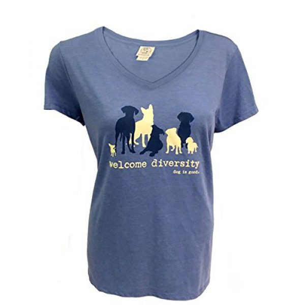 Dog is Good Graphic Tshirt 1 Short Sleeve T-Shirt Welcome Diversity - Great Gift for Dog Lovers, Made with High Premium Materials, Women's Fit